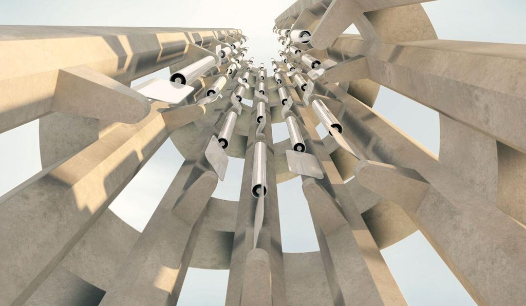 Rendering of the tower's interior (Rendering by Paul Murdoch Architects)