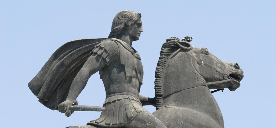 Equestrian statue of Alexander the Great astride Bucephalus, Thessaloniki