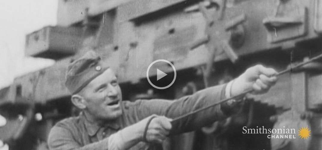 Caption: How Germans Turned Trains Into Massive Artillery in WWII