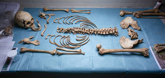 13th- to 15th-century female skeleton