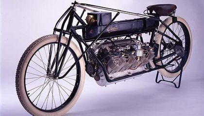 "Adding an aircraft engine to his motorcycle made Glenn Curtiss the ""fastest man alive"" in 1907."