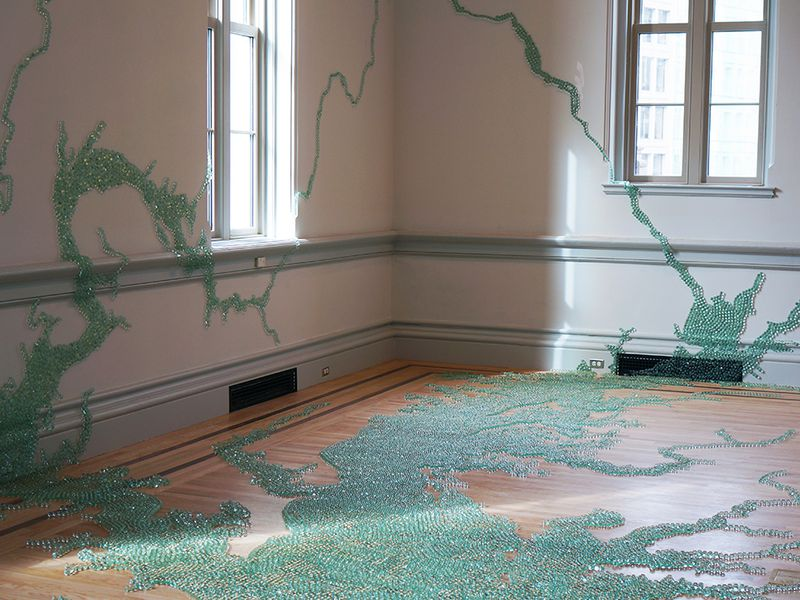 Maya Lin, Folding the Chesapeake, 2015