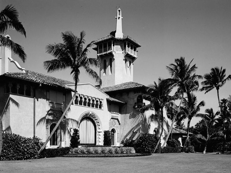 The front of Mar-a-Lago in April 1967