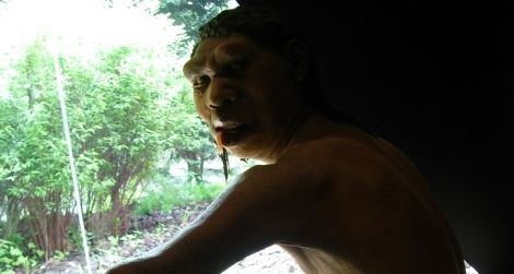 An artist's reconstruction of Homo antecessor