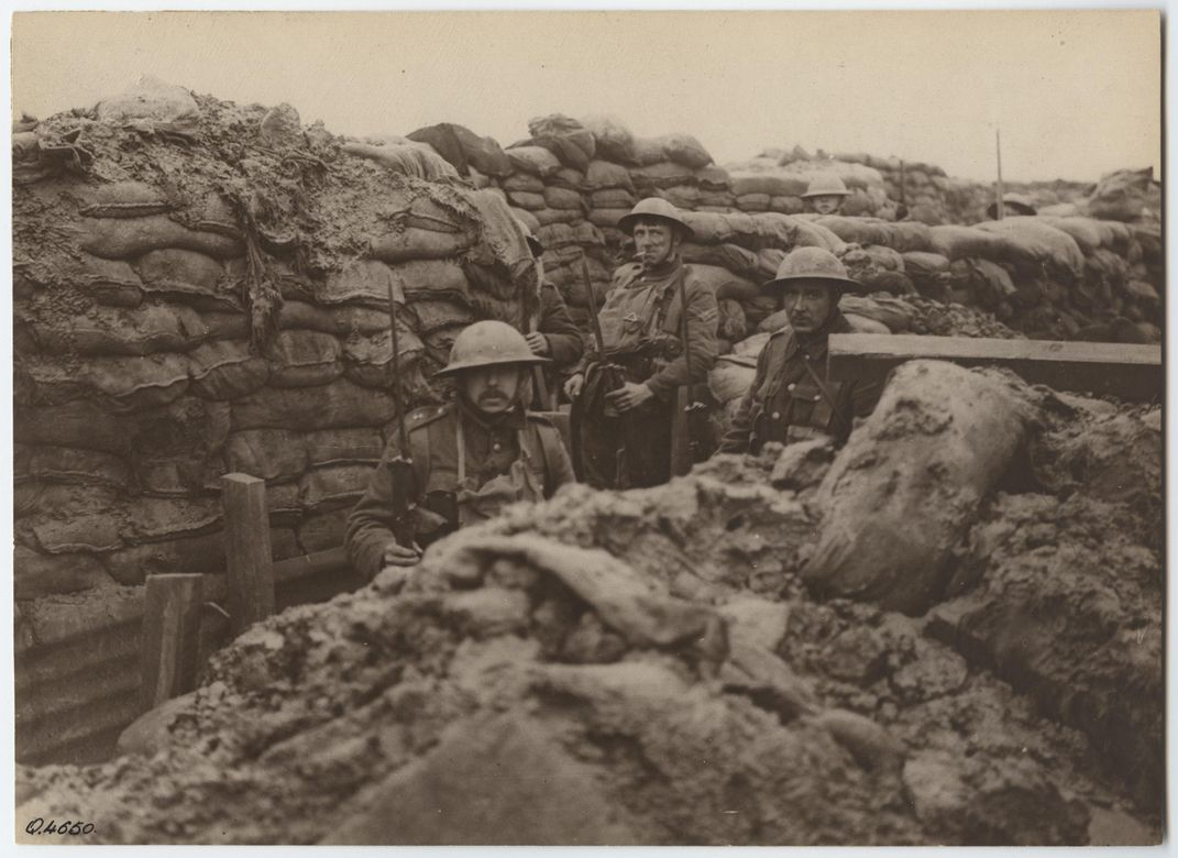 Brits in the trenches 1917