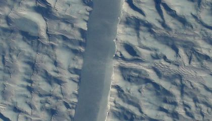 NASA Spots New Crack in Greenland Glacier