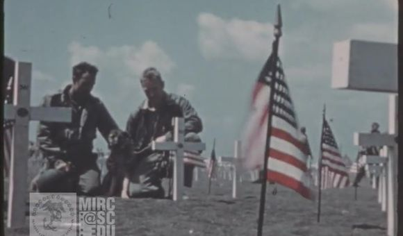 Preview thumbnail for video'U.S. Marine Corps Archival Footage: 5th Div. Cemetery Dedication on Iwo Jima