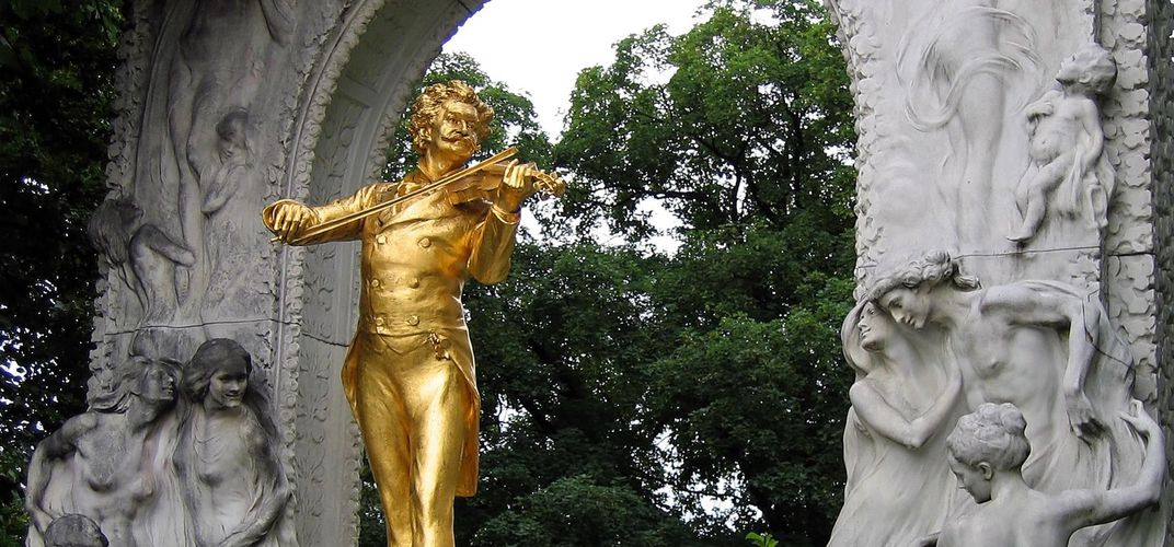 The beautiful Strauss memorial in Vienna