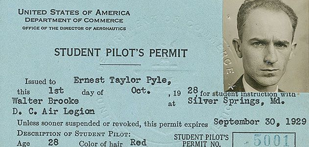 Byline Ernie Pyle History Air Space Magazine