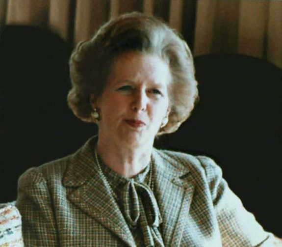 Margaret Thatcher in 1984 with Ronald Reagan at Camp David.