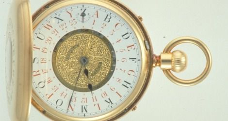 Fleming's double-sided watch showed the
