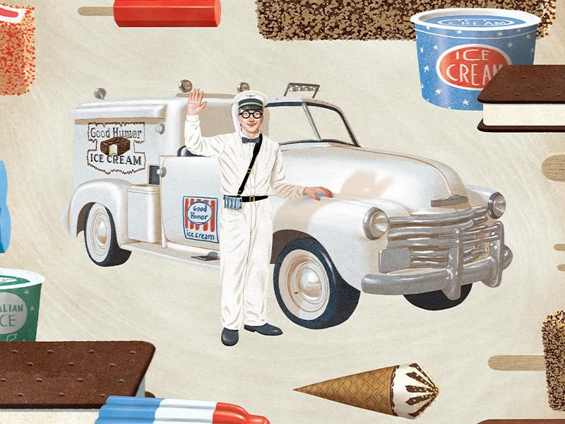 Illustration of classic Good Humor truck