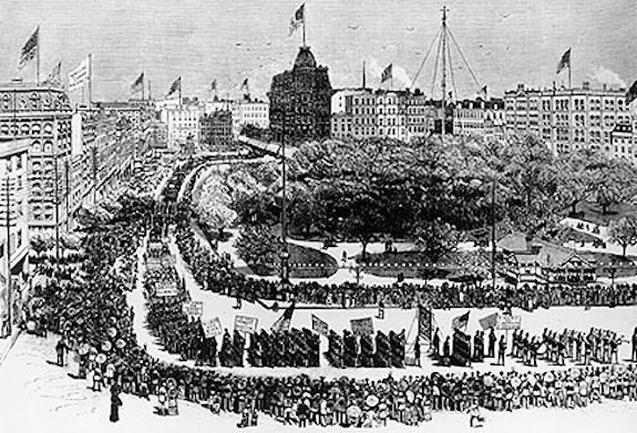 Labor day parade, 1882