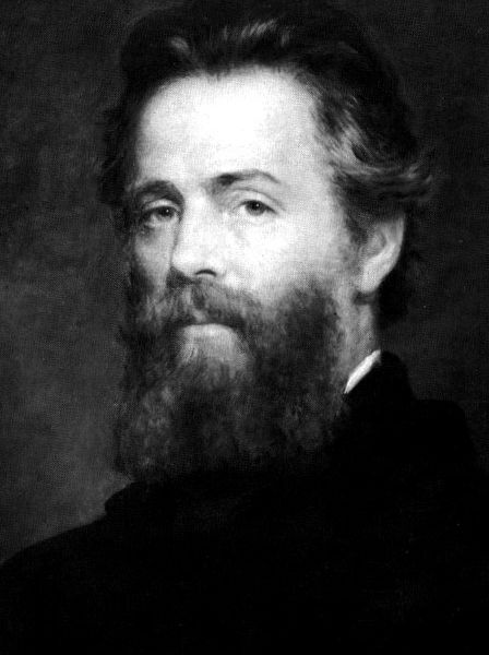Etching of Joseph O. Eaton's portrait of Herman Melville