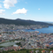 Bergen, Norway from atop Mount Floyen after taking the Fløibanen,  a funicular railway..