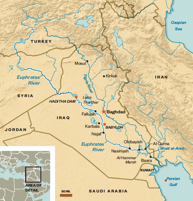 Map Of Asia Euphrates River.What Does The Future Of The Euphrates Spell For The Middle East