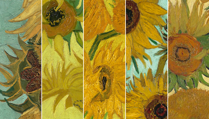 A Virtual Exhibit Unites Vincent van Gogh's Sunflowers