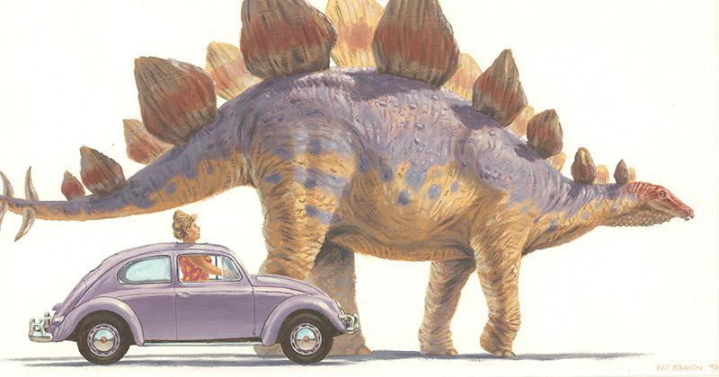 Patrick OBrien Shares His Life Long Fascination With The Illustrations Of Prehistoric Animals In Childrens Books