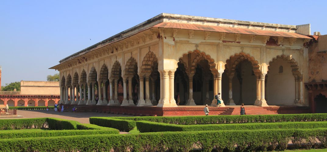 Pavilion inside the Red Fort in Agra