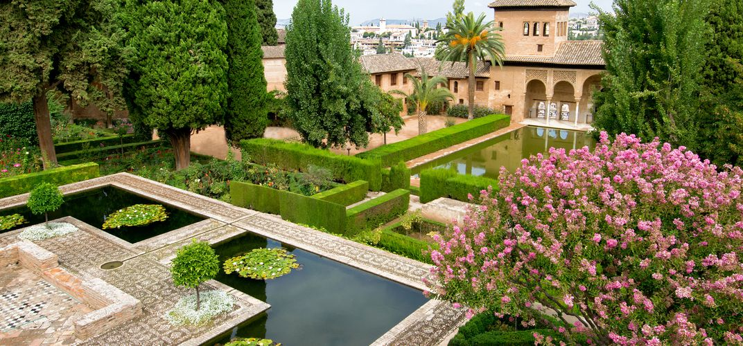 The gardens of the Generalife are part of the World Heritage site of the Alhambra in Spain.