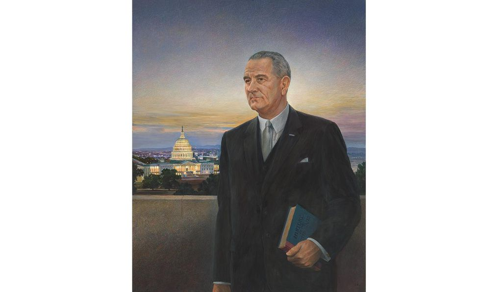 <em>Lyndon B. Johnson</em> by Peter Hurd, 1967