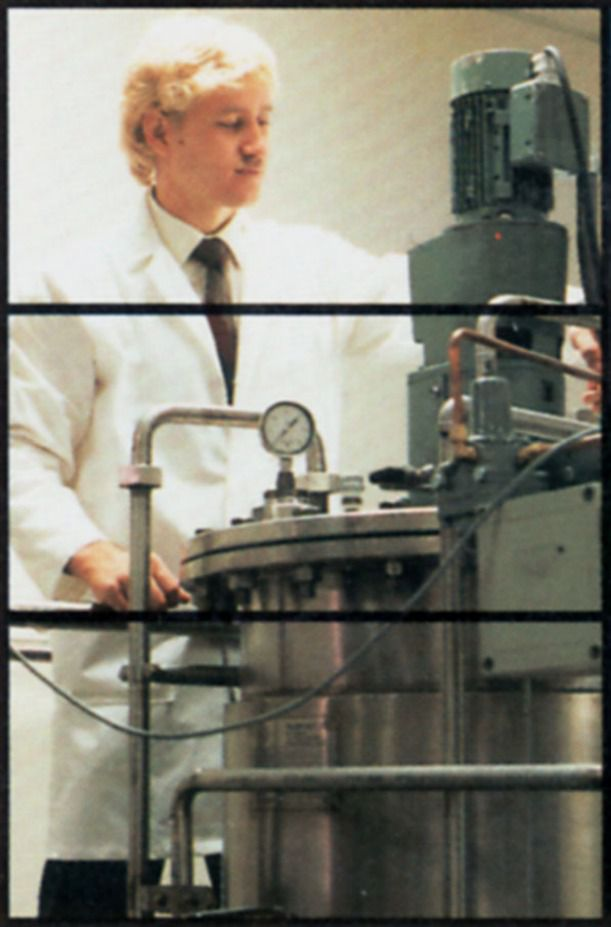 Curt Jones, the inventor of Dippin' Dots,working at Alltech as a microbiologist in 1987.