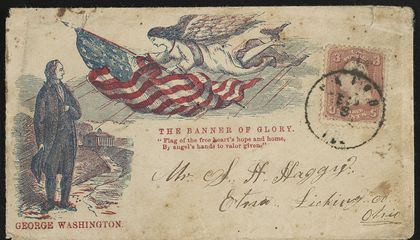Civil War Envelopes Featuring the Star-Spangled Banner
