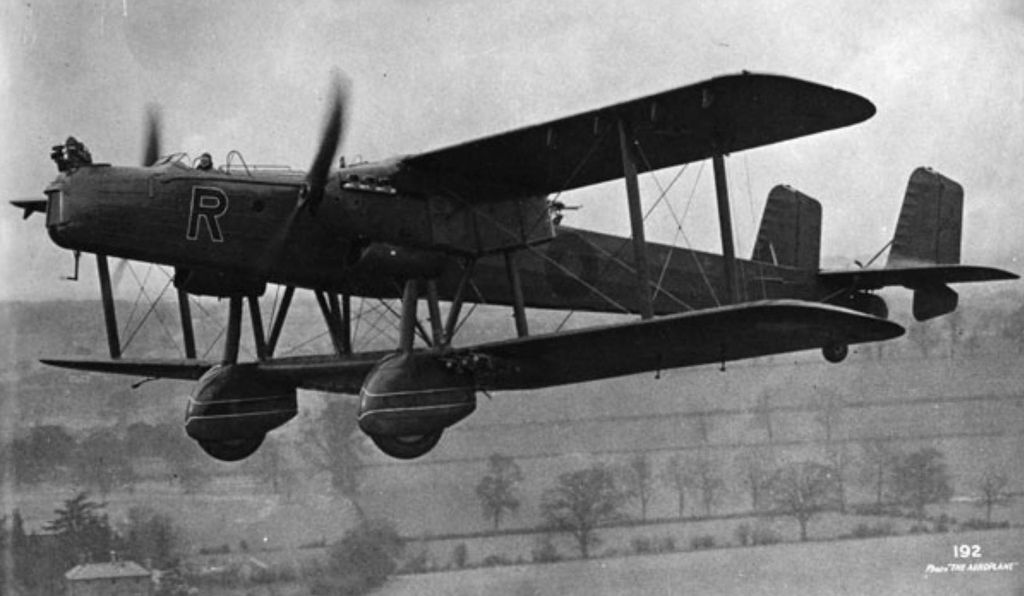 The Handley Page Heyford.