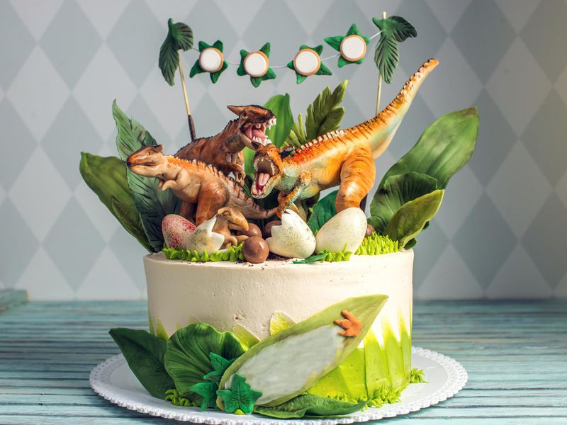 How To Make A Dinosaur Cake Science Smithsonian