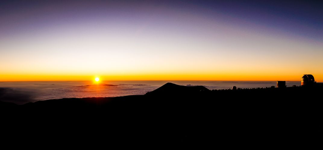 Sunset at Mauna Kea Observatory