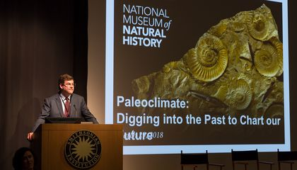 "The National Museum of Natural History's ""Earth Temperature History Symposium"" convened leading paleoclimate scientists to draw a comprehensive temperature curve of Earth's past climates. (Lucia RM Martino, Smithsonian)"