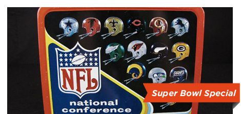 1976 NFL metal lunchbox