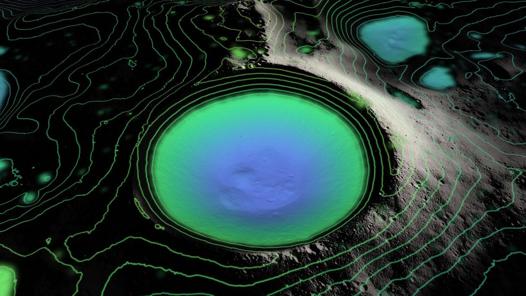 Animation of Shackleton crater