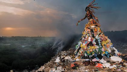 Spectacular High Fashion Rises From a Landscape of Trash
