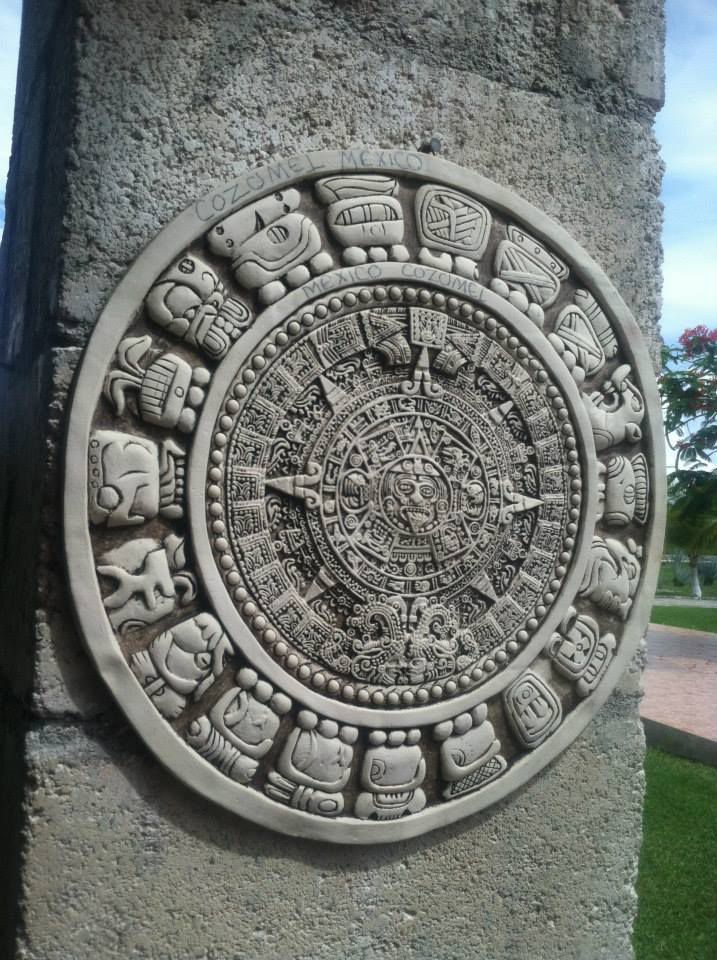Aztec stone carving in cozumel mexico. smithsonian photo contest