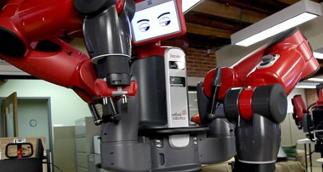 Baxter, a robot that can work with humans.