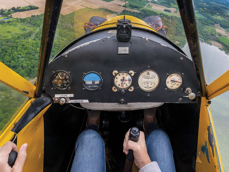 hands in a cockpit