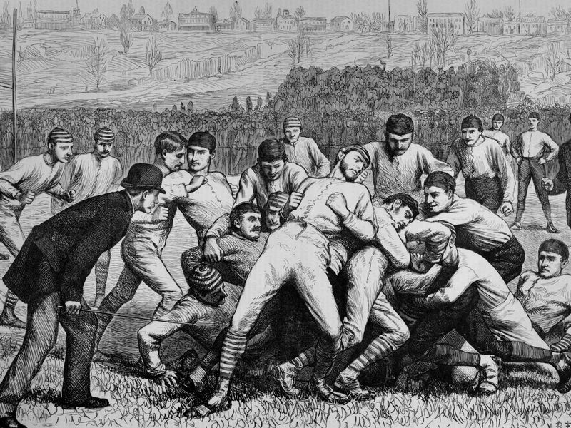 1879 football match between Yale and Princeton