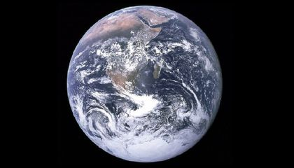 Will the Blue Marble Stay Blue? This famous Earth photo, known as The Blue Marble, was taken on December 7, 1972 by astronauts on the Apollo 17 spacecraft – the last manned lunar mission that provided humans with such an opportunity. Beautiful and fragile, the Blue Marble became a symbol of the environmental movement and part of the official Earth Day flag (Photo credit: NASA).