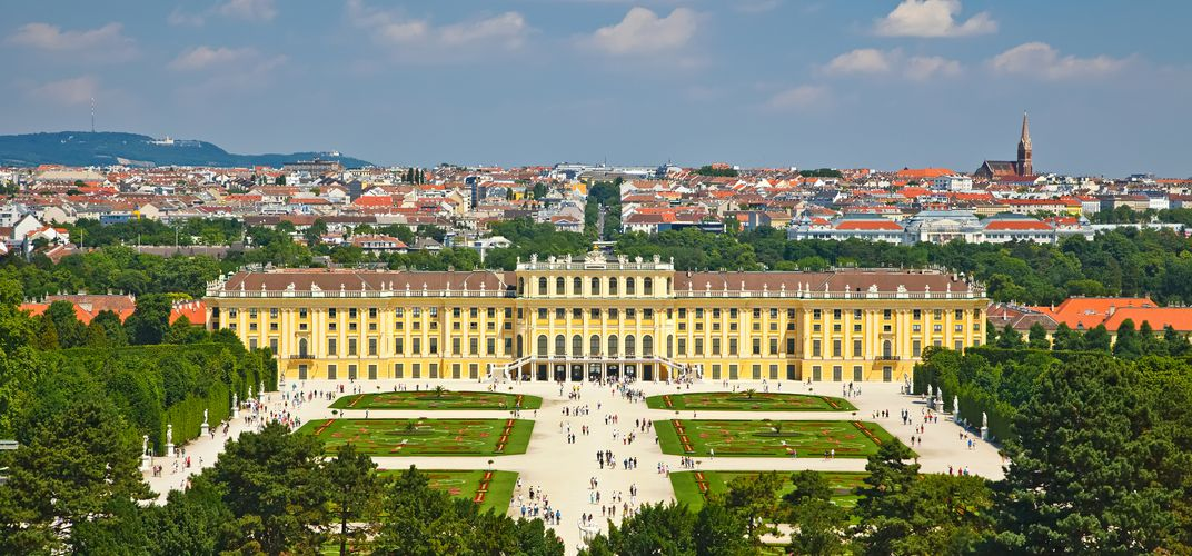 View of the Schonbrunn Palace in Vienna Austria
