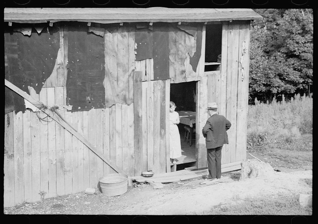 Theodor Jung, Garrett County, Maryland. Government agent interviewing a prospective client.