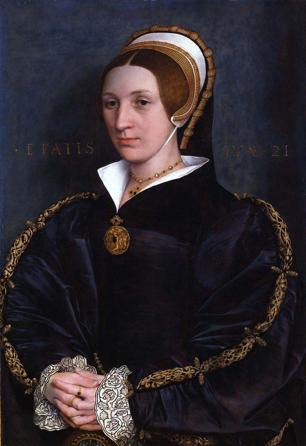 A Hans Holbein portrait previously identified as a likeness of Catherine Howard but now thought to depict a member of the Cromwell family