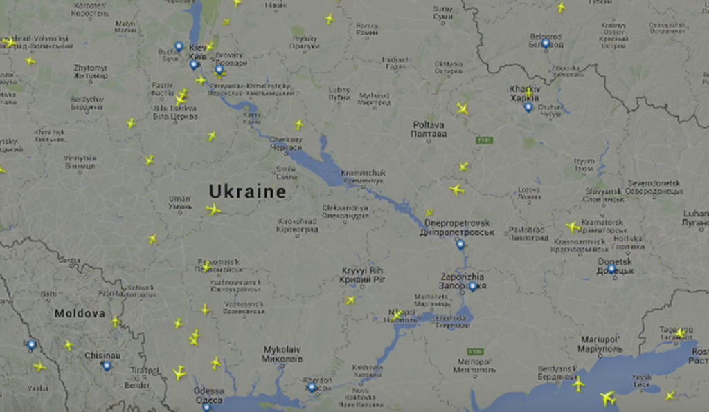 MH-17 was not alone: 160 commercial flights overflew the same region of Ukraine on the day of the shoot-down.