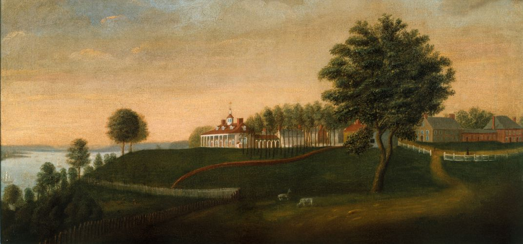 Painting of Mount Vernon by Edward Savage. Credit: Mount Vernon