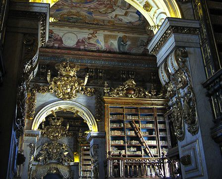 The University of Coimbra's grand old Biblioteca Joanina houses both books and bats.