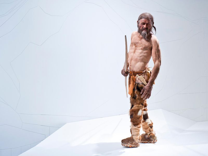 Ötzi the iceman reconstruction