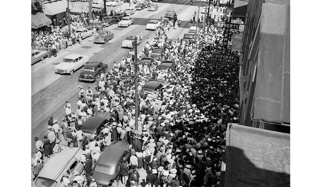 About 50,000 people viewed Emmett Till's body at Roberts Temple Church of God.