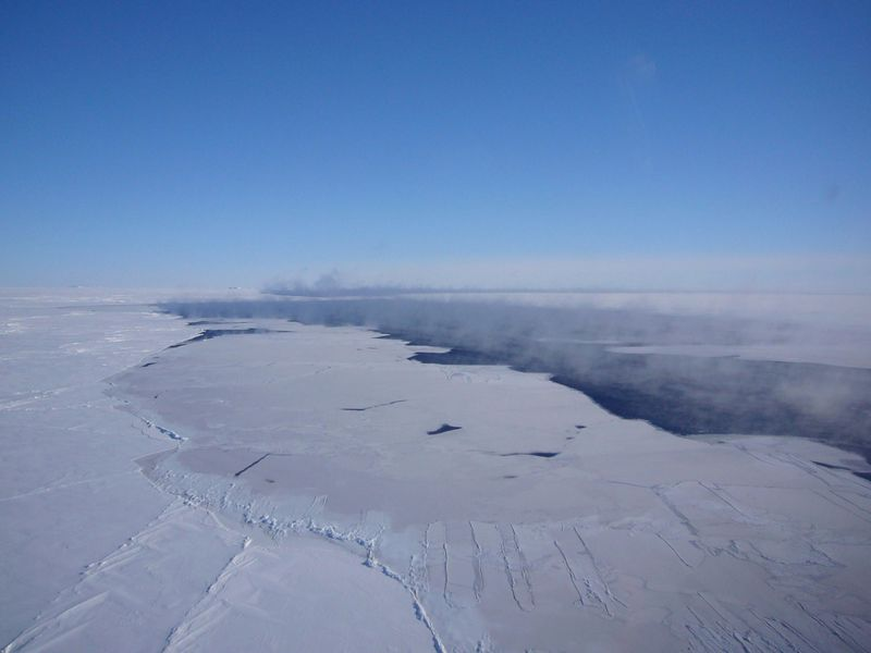 Antarctic ice hole