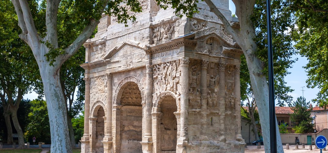 The Roman Triumphal Arch of Orange, Provence.