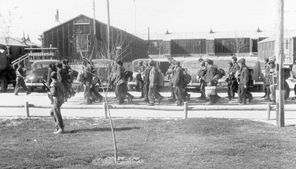 German POW marching